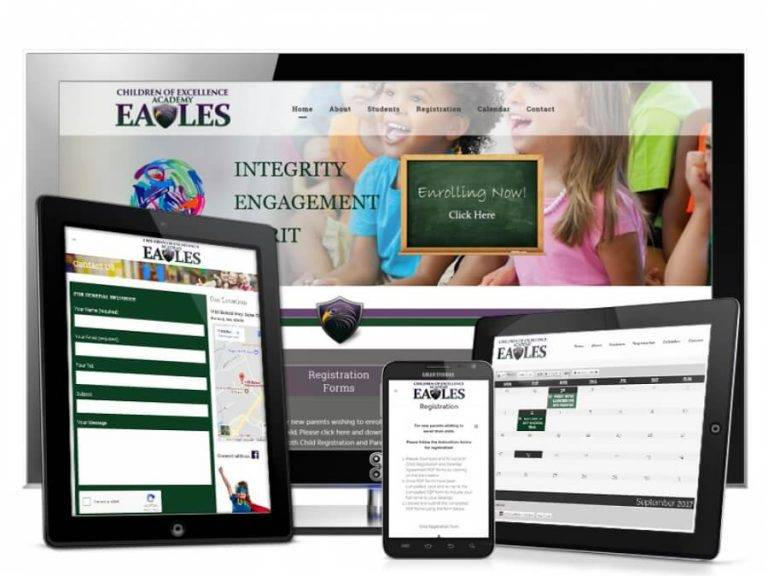 COE School and Education Web Design