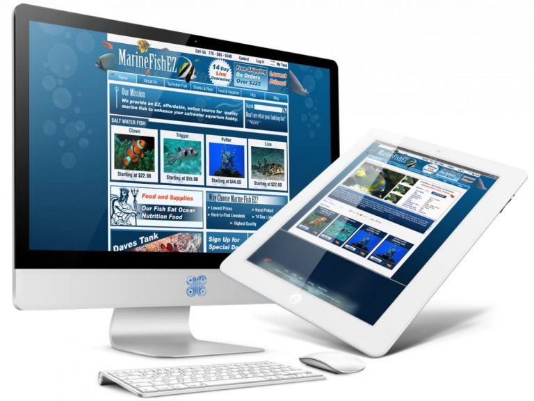 Aquatic Fish eCommerce Web Design