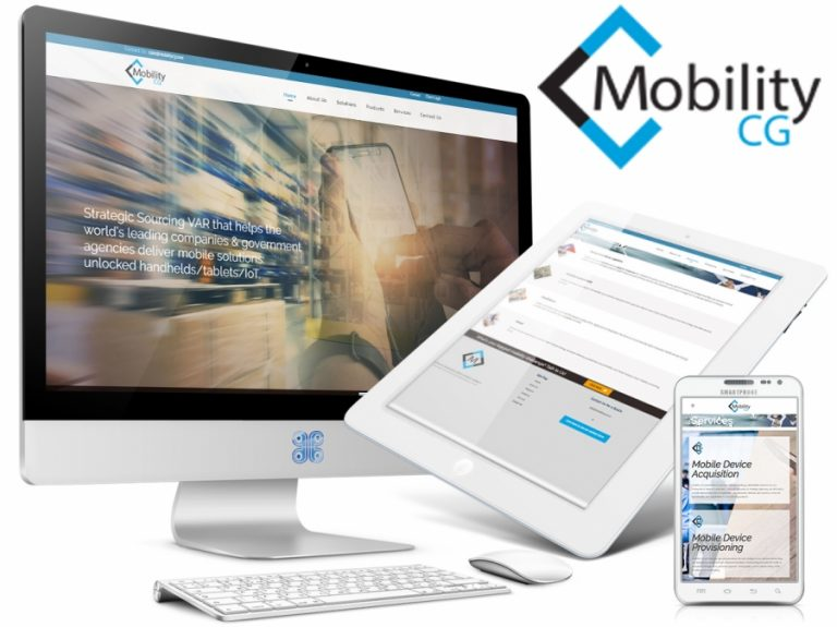 Mobile Technology Service Company Web Design