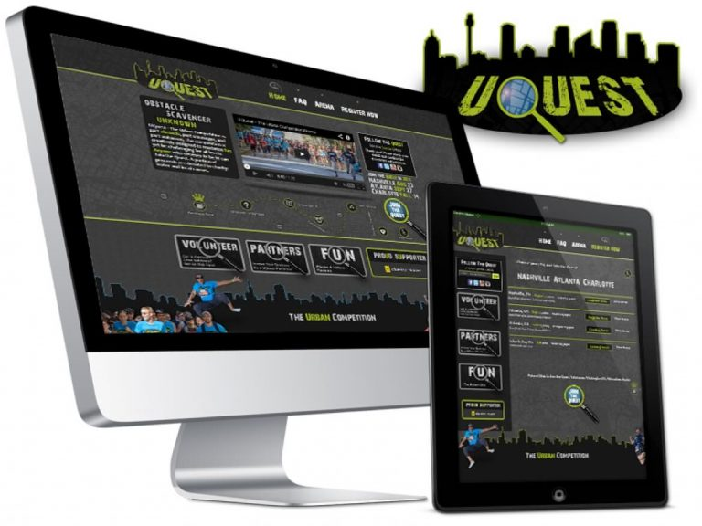 Uquest Urban Adventure Race Web Design