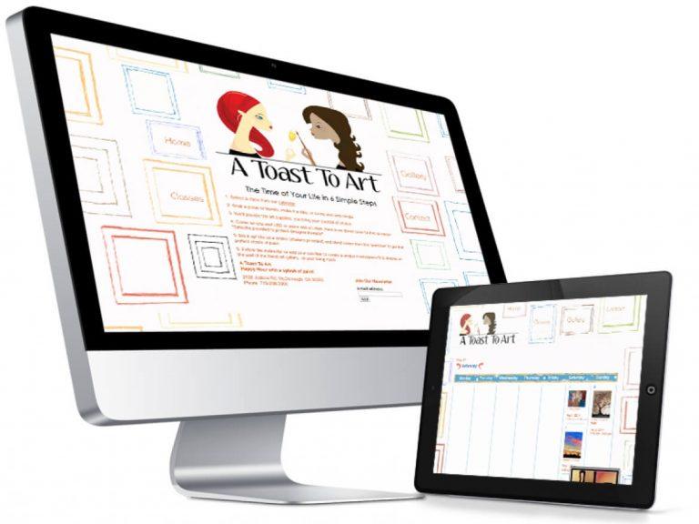 Art Class Web Design Showcase