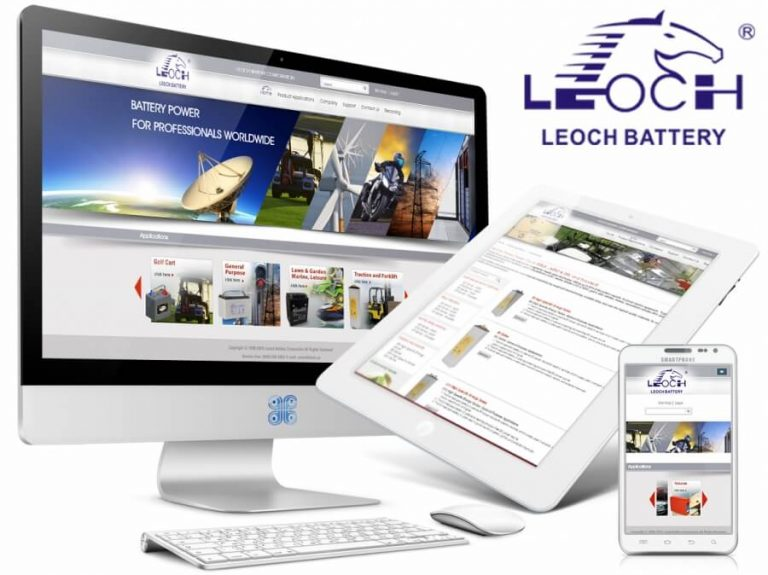 Leoch Battery Product Catalog eCommerce Web Design