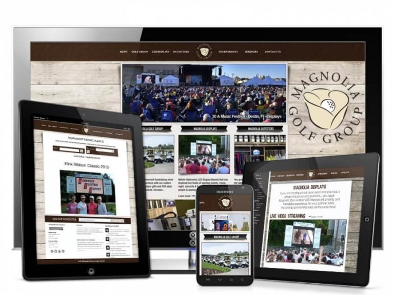 Magnolia Golf Group Custom Web Development