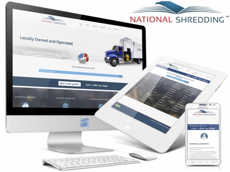 National Shredding Web Design Showcase