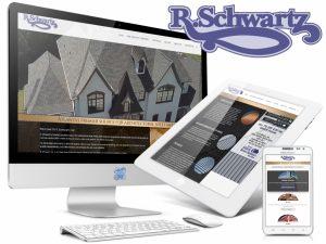 R Schwartz - Roofing Company Web design Showcase