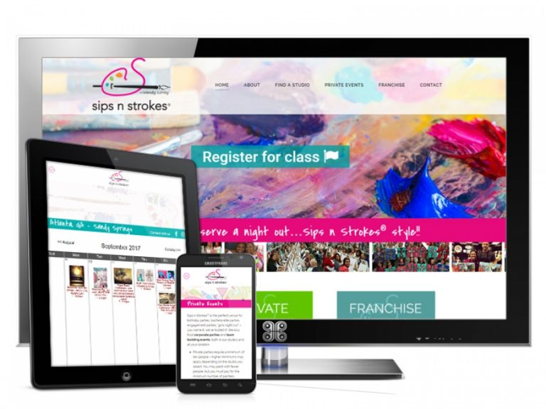 Artistic Event franchise Web Design Showcase