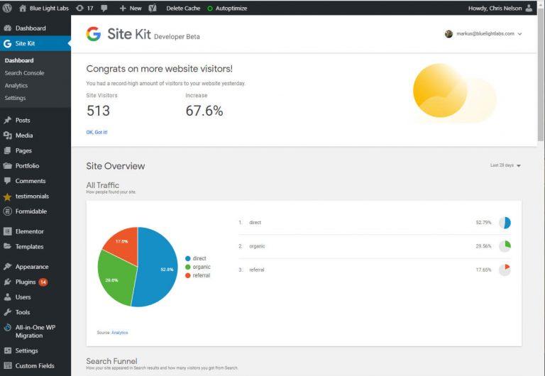 Google SiteKit For WordPress