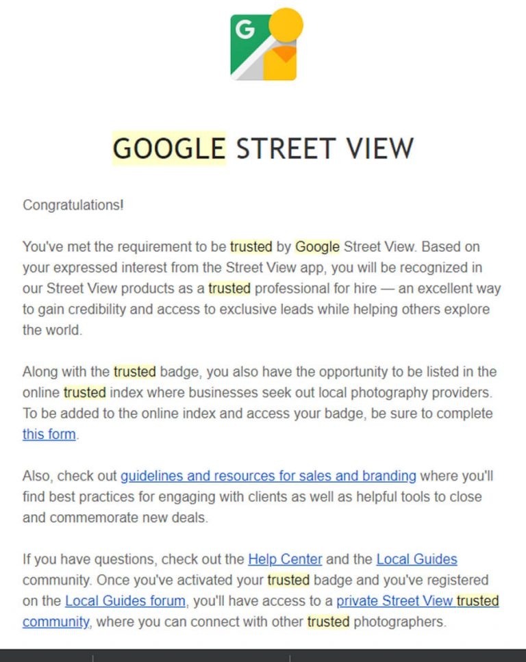 Google Trusted Email