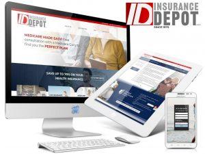 Insurance Company Web Design - Insurance Depot