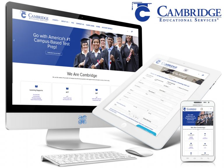 Cambridge Educational Services Website Showcase