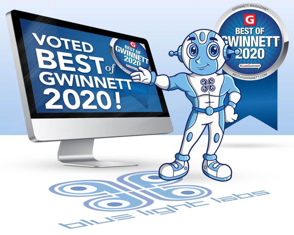 Blue Light Labs Wins Best of Gwinnett 2020